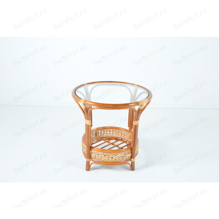 Стол со стеклом Vinotti 02/15A коньяк