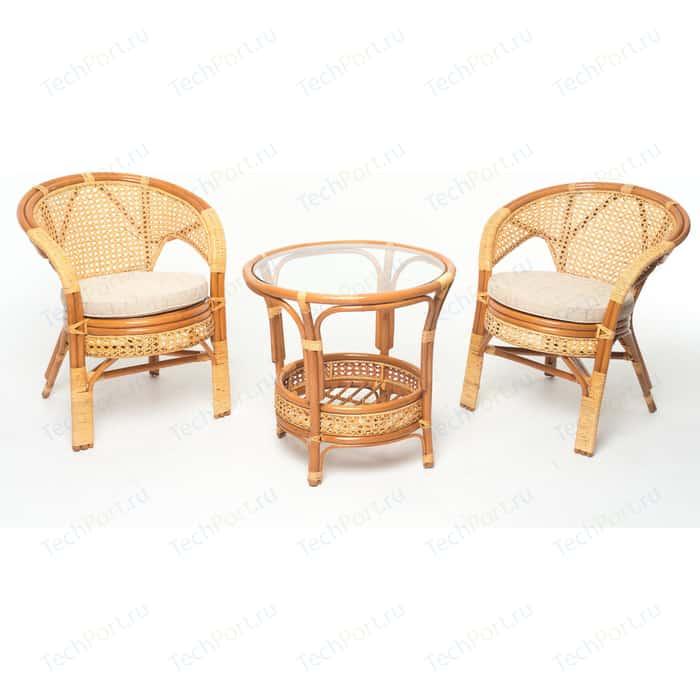 Комплект для отдыха Vinotti 02/15, 2 кресла+стол коньяк