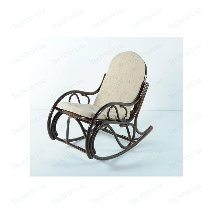 Кресло-качалка с подушкой Vinotti 05/04 темный коньяк