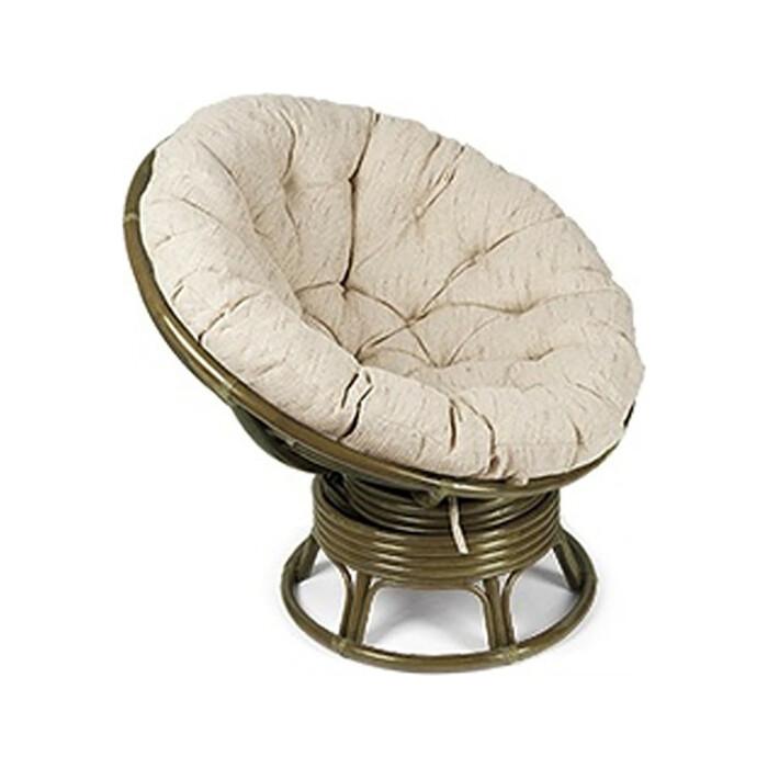 Кресло-качалка Vinotti Papasan 23/01В олива подушка рогожка