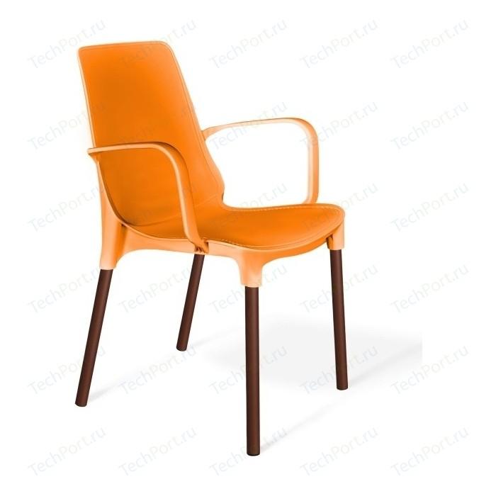 Стул Sheffilton SHT-S76 оранжевый/коричневый муар