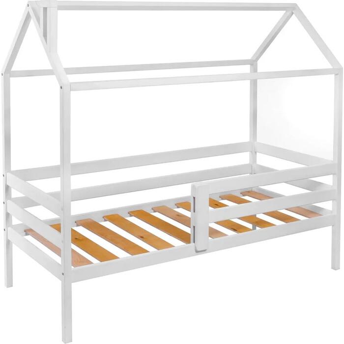 Кровать-домик с 1 ограничителем RooRoom кд-33 160x70 белый