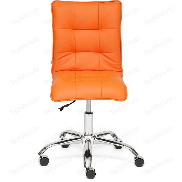 Кресло TetChair ZERO кож/зам оранжевый 14-43