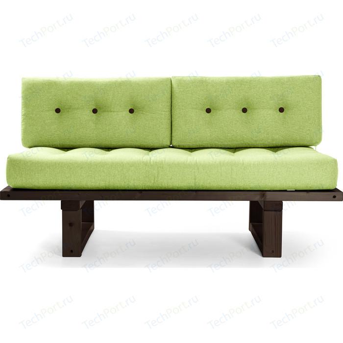Кушетка Anderson Торн венге-зеленая рогожка