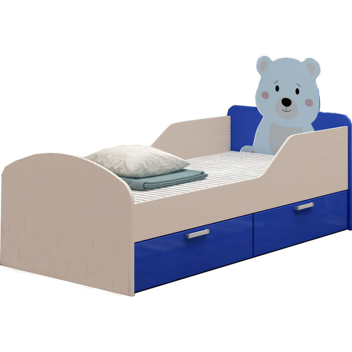 Кровать Регион 58 Бемби-5 мишка темно-синий/белфорт МДФ