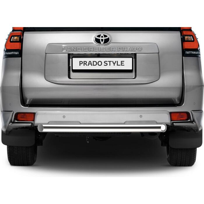 Защита заднего бампера d76 короткая Rival для Toyota Land Cruiser Prado 150 (2017-н.в.), R.5721.006