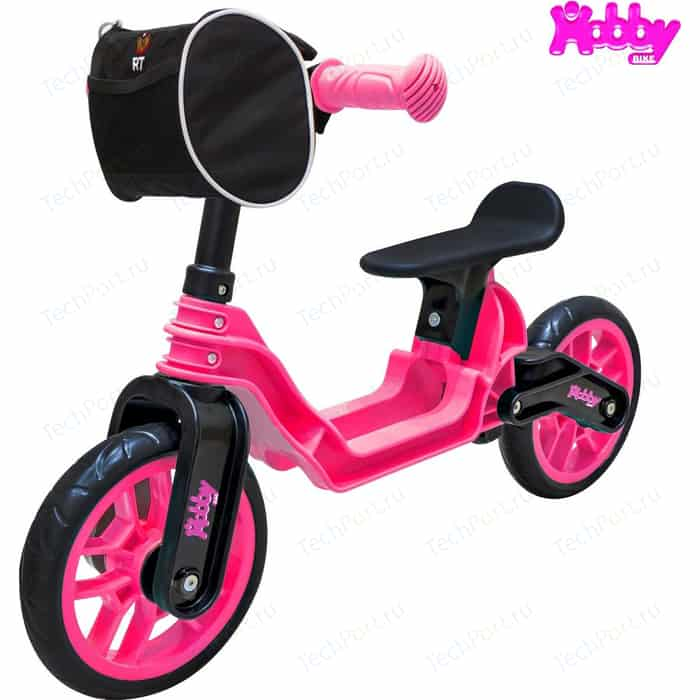 Беговел RT ОР503 Hobby bike Magestic pink black