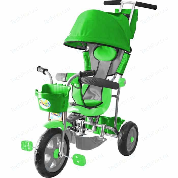 Велосипед трехколесный GALAXY Л001 Лучик с капюшоном зеленый