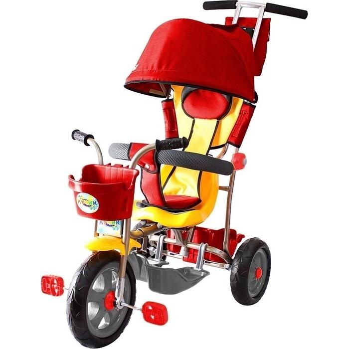 Велосипед трехколесный GALAXY Л001 Лучик с капюшоном красный