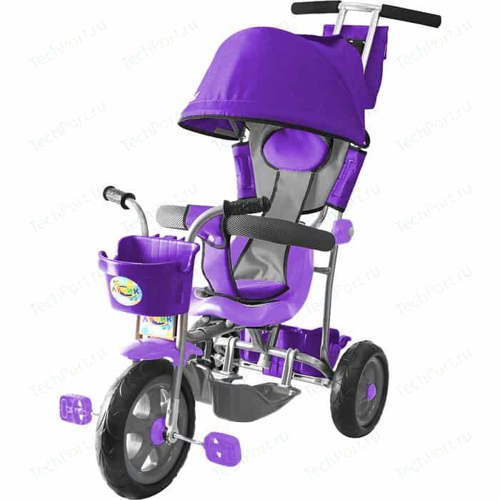 Велосипед трехколесный GALAXY Л001 Лучик с капюшоном фиолетовый