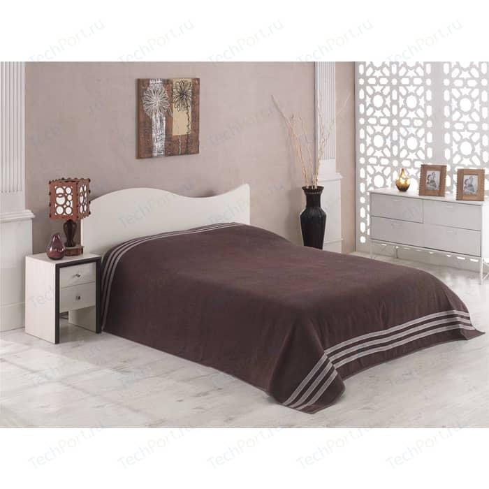Простыня Karna махровая Petek 160x220 см коричневый (2636/CHAR005)