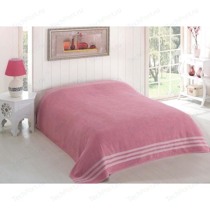 Простыня Karna махровая Petek 160x220 см грязно-розовый (2636/CHAR003)
