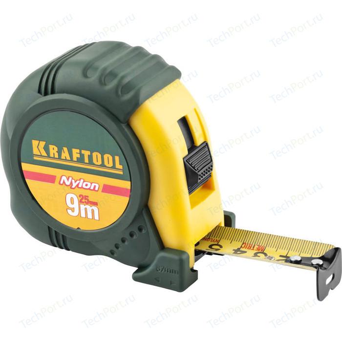 Рулетка Kraftool 9м х 25мм Expert (34122-09_z01) шнур разметочный stanley 9м