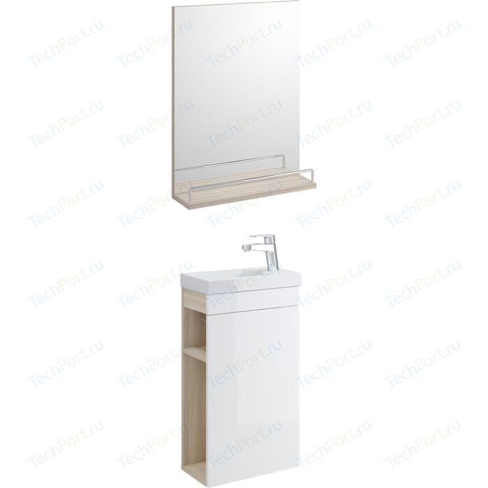 Мебель для ванной Cersanit Smart 40 корпус ясень, фасад белый