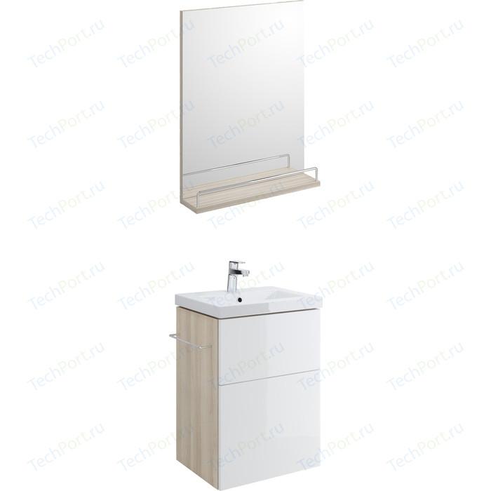 Мебель для ванной Cersanit Smart 50 корпус ясень, фасад белый