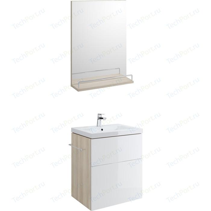 Мебель для ванной Cersanit Smart 60 корпус ясень, фасад белый