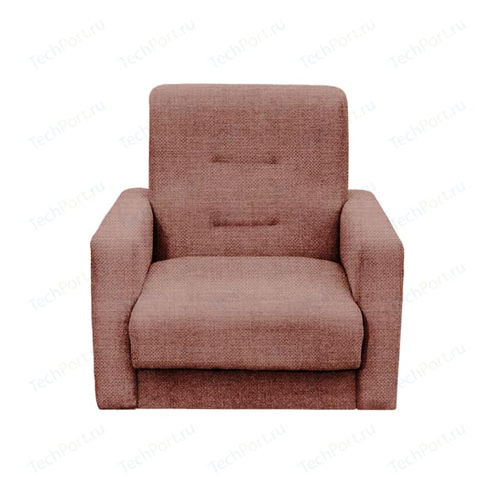 Кресло Экомебель Лондон-2 рогожка коричневая.