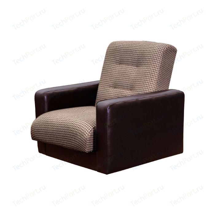 Кресло Экомебель Лондон рогожка микс коричневая.
