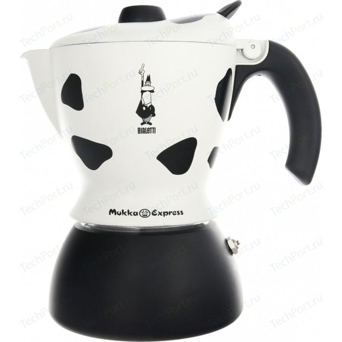Гейзерная кофеварка Bialetti Mukka Express, 3418, 2 п, пятнистая