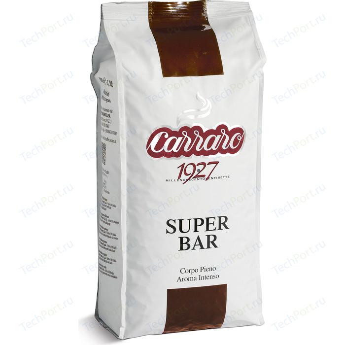 Кофе в зернах Carraro Caffe Super Bar, вакуумная упаковка, 1000гр