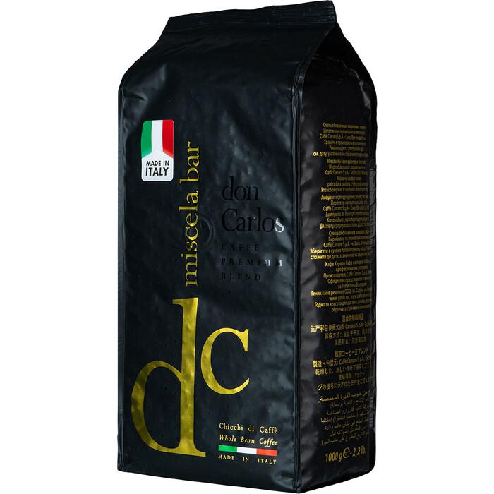 Кофе в зернах Carraro Miscela Bar Don Carlos 1000гр