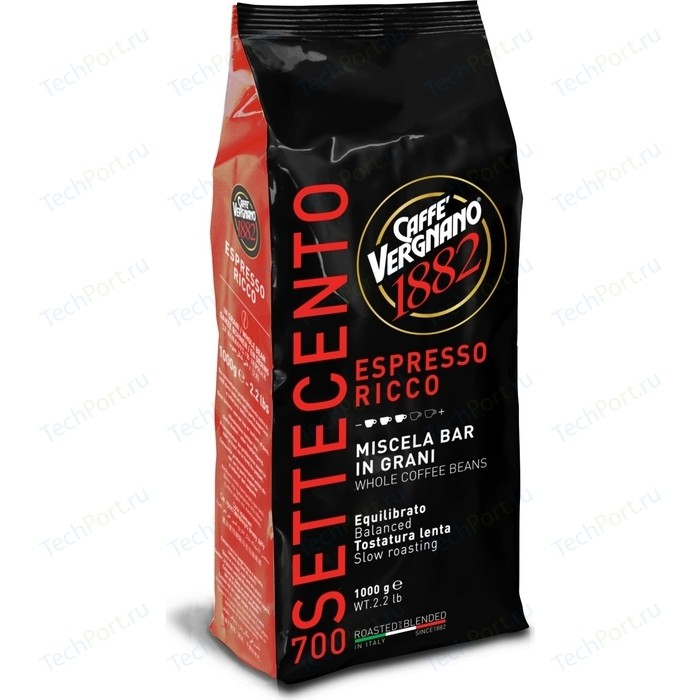 Кофе в зернах Vergnano Ricco 700 1000гр