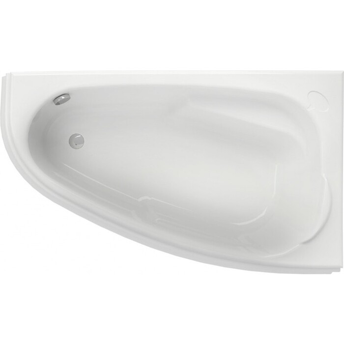 Акриловая ванна Cersanit Joanna 140х90 см, правая, ультра белая (WA-JOANNA*140-R-W)
