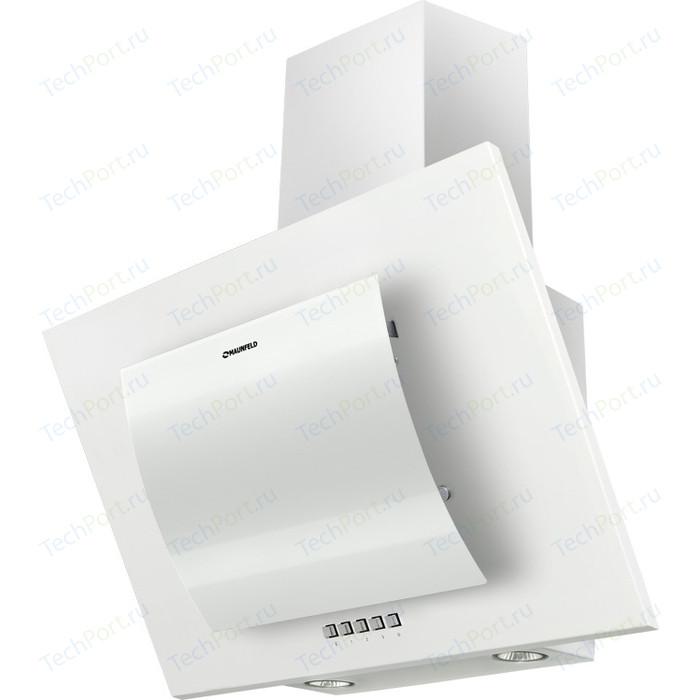 Вытяжка MAUNFELD TOWER ROUND 50 WH, белое дугообразное стекло