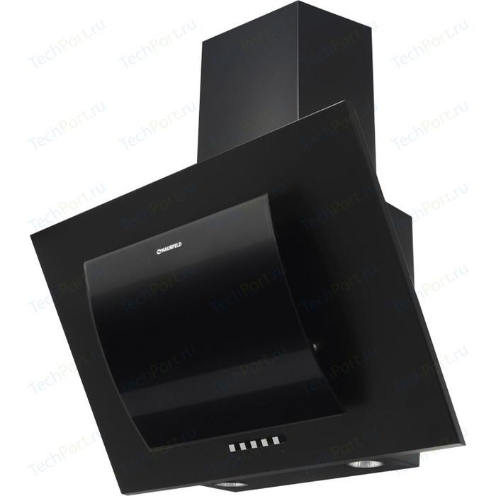 Вытяжка MAUNFELD TOWER ROUND 60 черный/черное дугообразное стекло