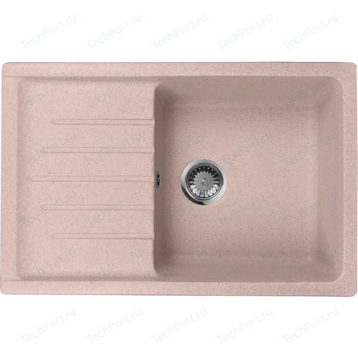 Кухонная мойка AquaGranitEx M-27 (315) розовый