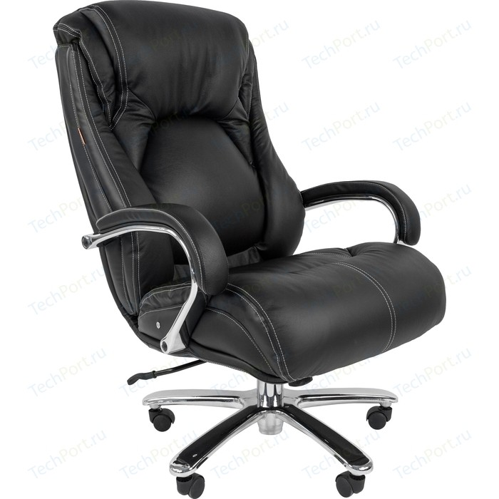 Офисноекресло Chairman 402 кожа черная