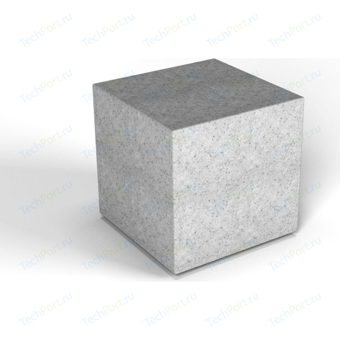 Декоративная фигура Flox Куб белый гранит (390х 385х 385)
