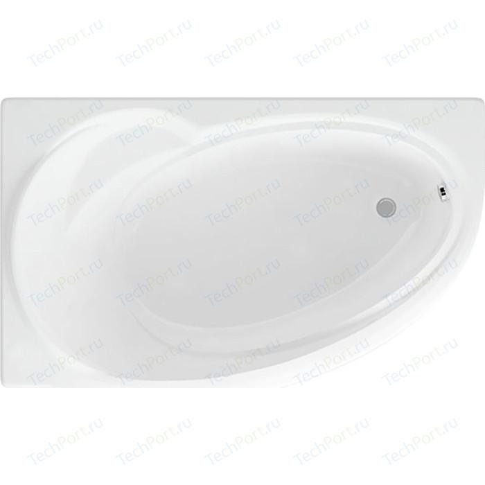 Акриловая ванна Aquatek Бетта 160х97 левая, фронтальная панель, каркас, слив-перелив (BET160-0000027)