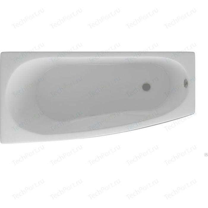 Акриловая ванна Aquatek Пандора 160х75 левая, фронтальная панель, каркас, слив-перелив (PAN160-0000038) акриловая ванна aquatek оберон 180х80 фронтальная панель каркас слив перелив справа obr180 0000009