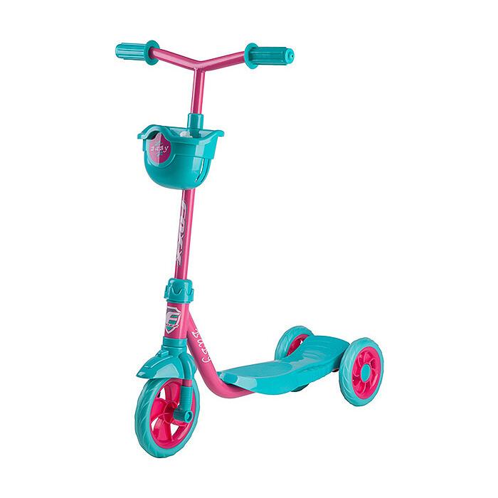 Самокат городской FOXX Baby с пластиковой платформой и EVA колесами 115мм корзинка фиолетовый
