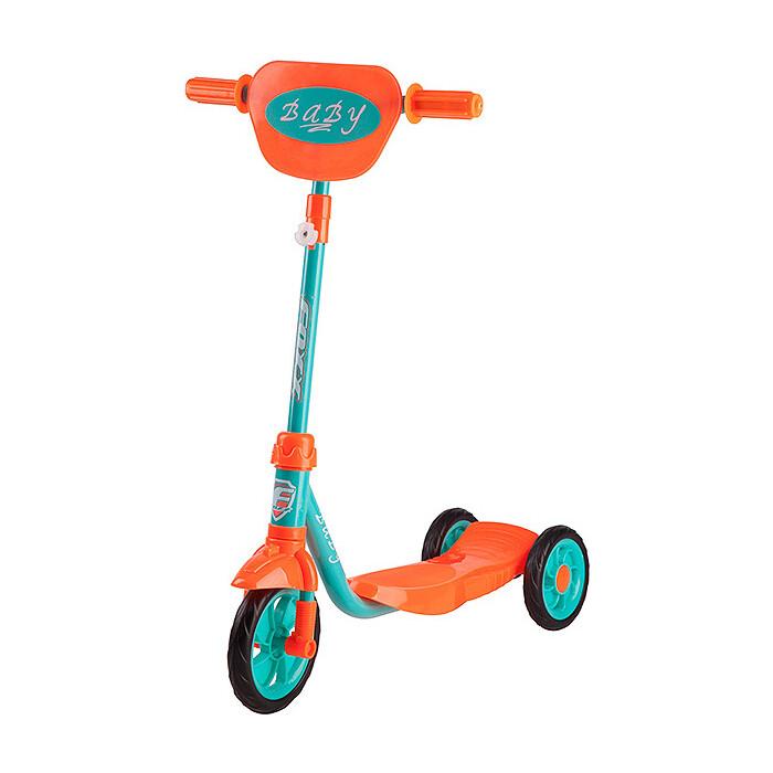 Самокат городской FOXX Baby с пластиковой платформой и EVA колесами 115мм щиток на руль мятный
