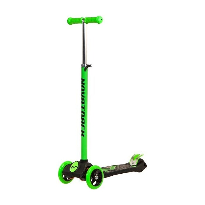 Самокат-кикборд NOVATRACK RainBow подростковый max 60кг зеленый 126181