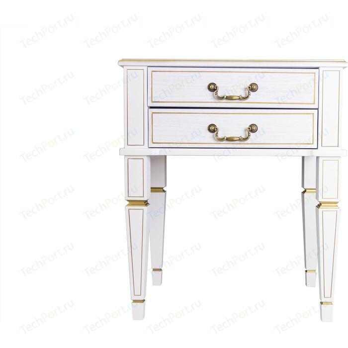 Фото - Тумба Мебелик Васко В 118Н белый ясень/золото стол журнальный мебелик васко в 81 белый ясень золото