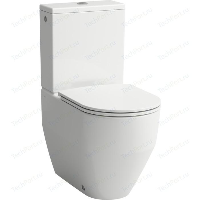 Унитаз с бачком Laufen Pro укороченный, сиденьем-микролифт, белый