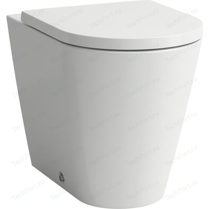 Унитаз приставной Laufen Kartell by с сиденьем микролифт (8.2333.1.000.000.1, 8.9133.1.000.000.1)