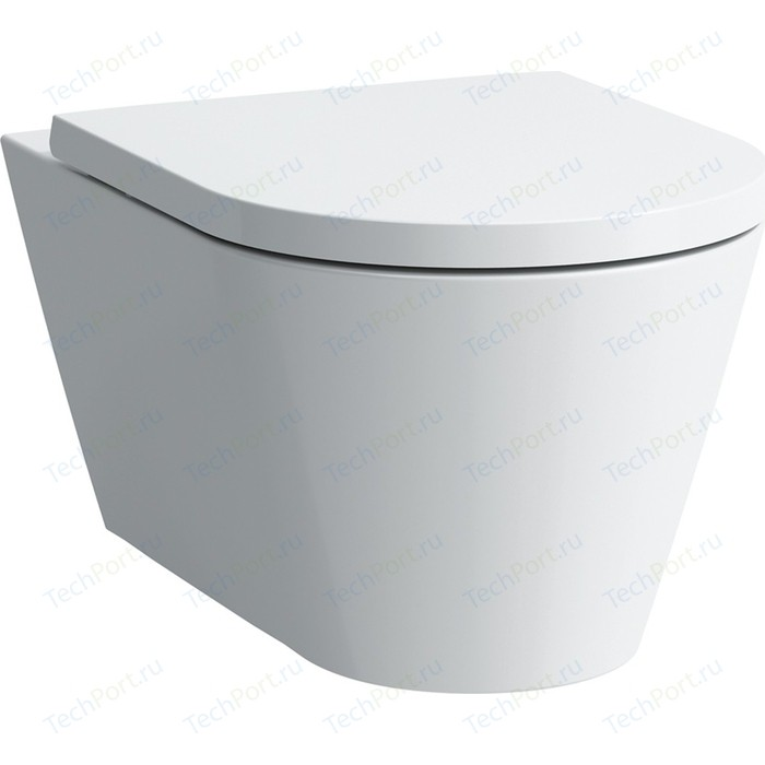 Унитаз подвесной Laufen Kartell by с сиденьем микролифт (8.2033.1.000.000.1, 8.9133.1.000.000.1)