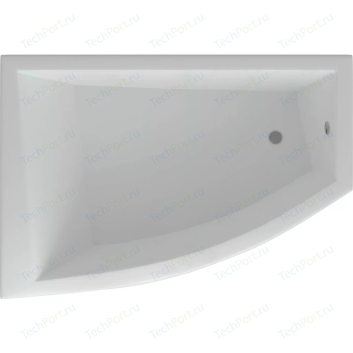 Акриловая ванна Aquatek Оракул 180х125 левая, фронтальная панель, вклеенный каркас, слив-перелив (ORK180-0000004)