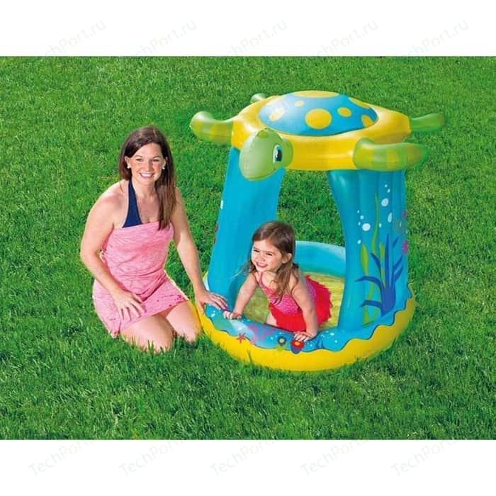 Детский надувной бассейн Bestway Черепашка с навесом 109 х 96 104 см (52219)