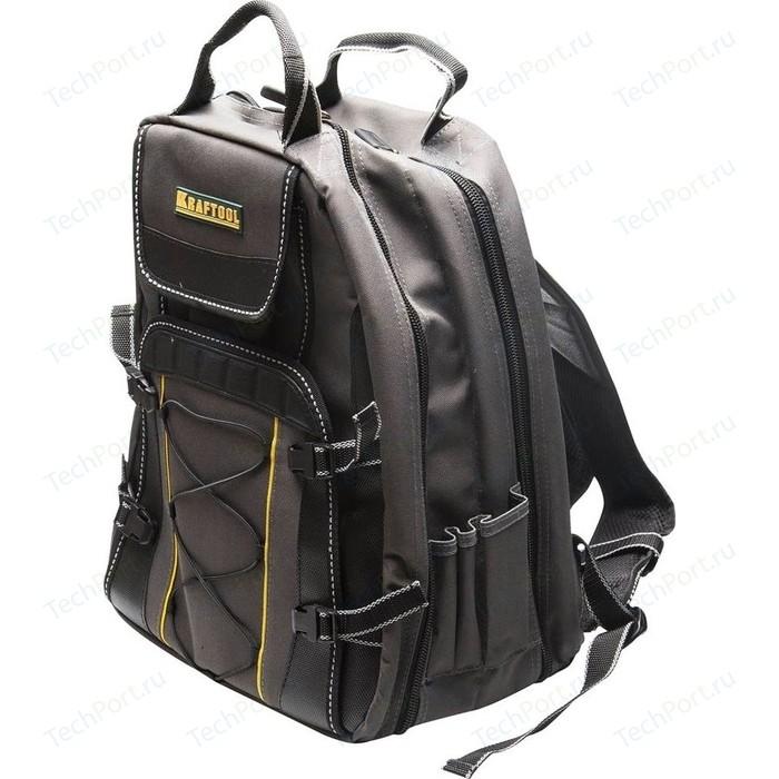 Рюкзак для инструментов Kraftool Industrie 2 отделения 49 карманов 430х360х230мм (38745)