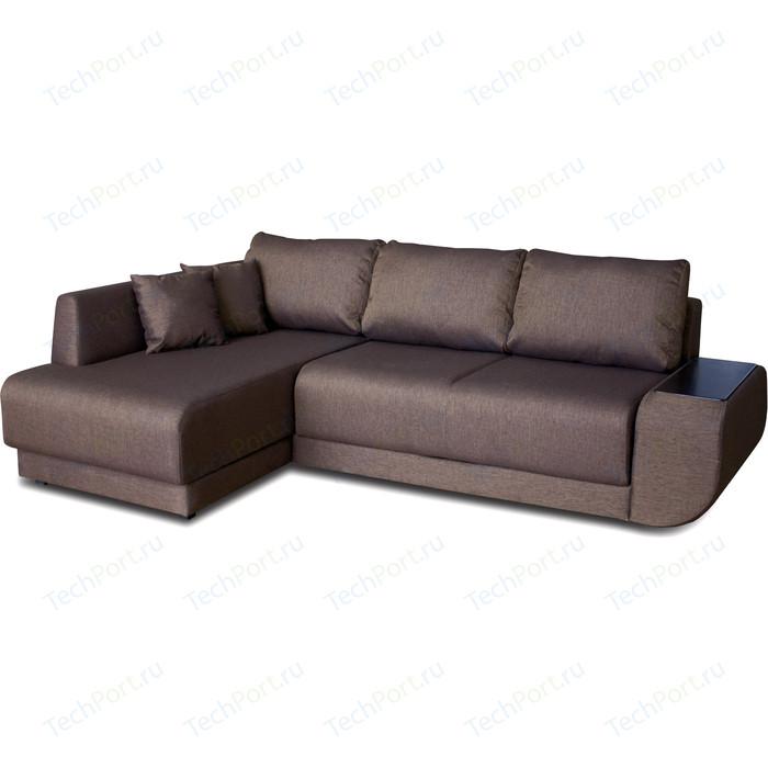 Угловой диван DИВАН Консул левый Madagaskar 05 коричневый артикул 80293700