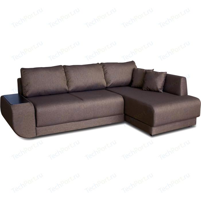 Угловой диван DИВАН Консул правый Madagaskar 05 коричневый артикул 80293701