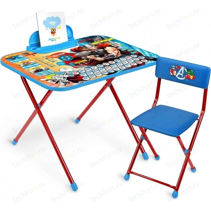 Набор мебели Nika Disney 5 Стол-Стул Мстители цена 2017