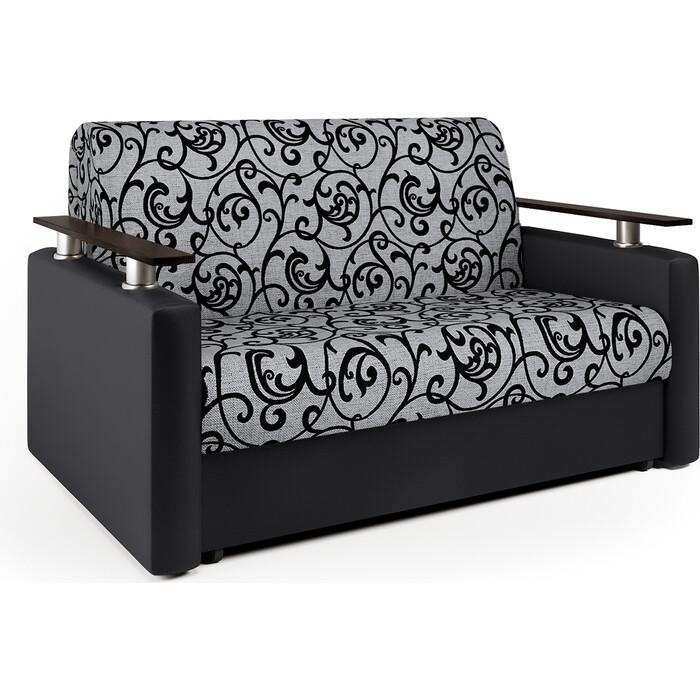 Диван аккордеон Шарм-Дизайн Шарм 100 черный узоры