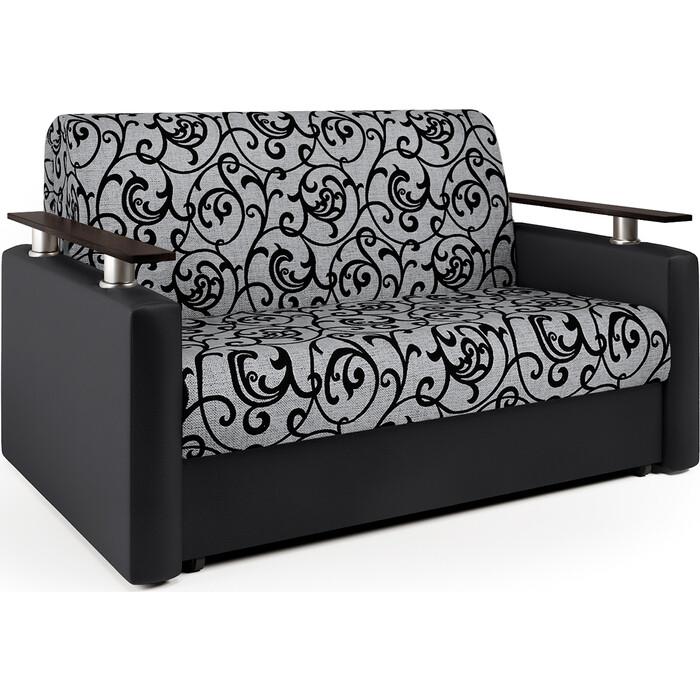 Диван аккордеон Шарм-Дизайн Шарм 120 черный узоры