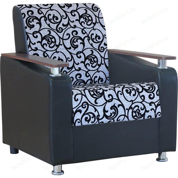 Кресло Шарм-Дизайн Мелодия ДП №1 шенилл серый узор